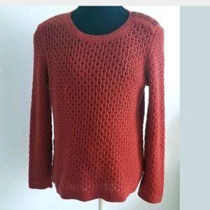 Talbots Pullove knit sweater red/brown Petites M